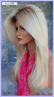 Blonde Bombshell Wig (LONG ROOTED BLOND DESIGNER WIG SOFT FLOWING ✮ BLOND BOMBSHELL HEADS WILL)