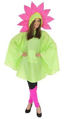 Blume Party Poncho für Erwachsene Karneval Fasching Party - Party Kostüme Für Erwachsene