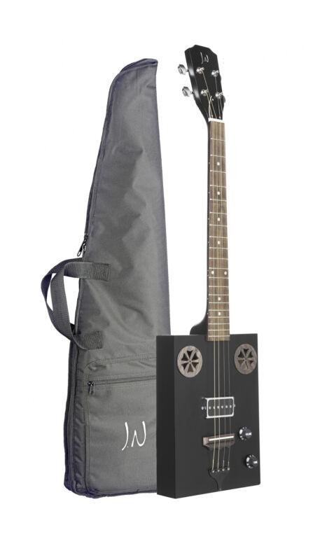 J.N Guitars CASK-HOGSCOAL Electro Acoustic Sapele Cigar Box Guitar