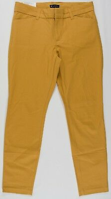 NWT Womens GAP Slim City Crop Pants Gold Yellow - 950200 (T6)