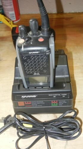 Harris Portable, XG-75p, 764-870MHZ,Two Way Radio,Charger,Battery Antenna