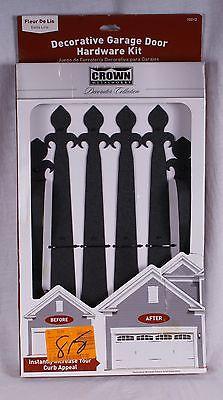 (Crown Metalworks Fleur De Lis Carriage House/Garage Door/Gate Decorative Hardwar)