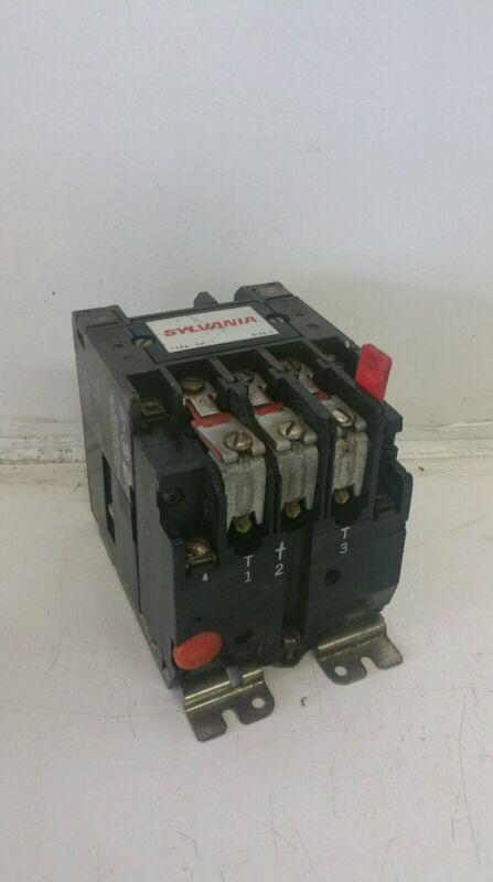 SYLVANIA A13U030 SIZE 0 STARTER CONTACTOR 18A 600VAC 3PH 3HP 120V COIL **XLNT**