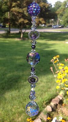 Purple Rhinestone Crystal Suncatcher/Prism Swarovski Elements Feng Shui Ball -