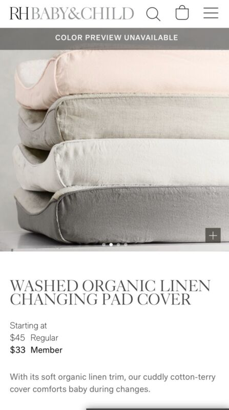 RH Baby & Child Changing Pad Cover Gray