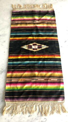 Antique Mexican Serape Handwoven Rug