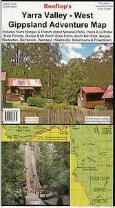 Yarra Valley West Gippsland  Map, rooftop new 4WD bushwalking freepost in Austra