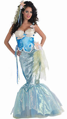 Sexy Mermaid Dress Adult Womens Halloween Costume Mystical Sea Nymph - Sea Creature Halloween Costumes