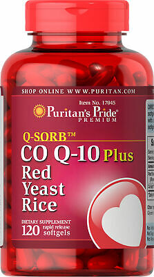 Puritan's Pride Q-SORB Co Q-10 Plus Red Yeast Rice-120 Rapid