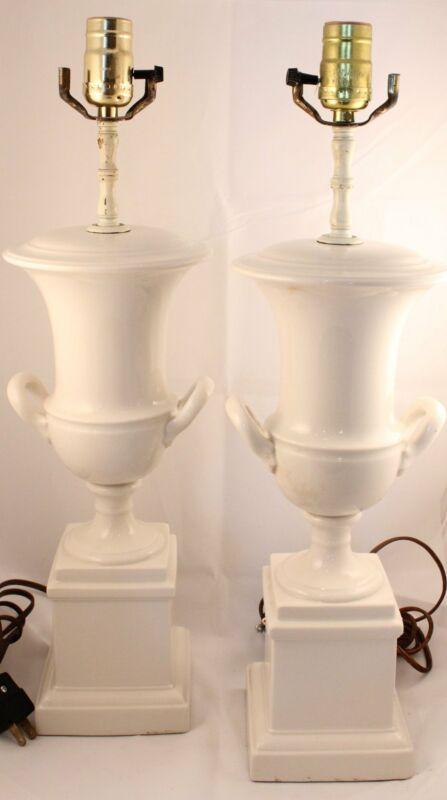 Porcelain Lamps, pair