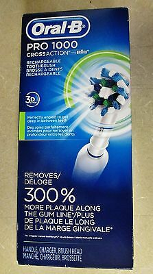 Oral B Pro 1000 3D Cross-Action Braun Rechargeable Power Toothbrush
