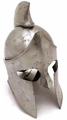 Medieval Warrior Brand 18G Steel Greek Spartan Helmet w/ Leather Liner