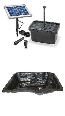 Goldfish pond kit includes preformed 420 litre pond solar filter and fountain
