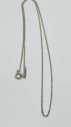 """Tiffany & Co. Sterling Silver AG 925 Chain Necklace 15.75"""" Delicate"""