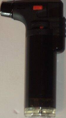 Eagle Torch Refillable Windproof Jet Lighter Color Shining Black Size 4 Inches