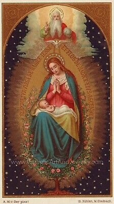 "Tree of Jesse with Mary–8.5x11"" based on a Vintage Holy Card – Catholic Art"