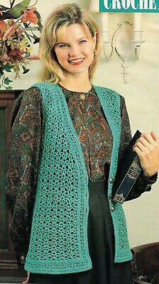 - SPRING Lacy Vest/Crochet Pattern INSTRUCTIONS ONLY