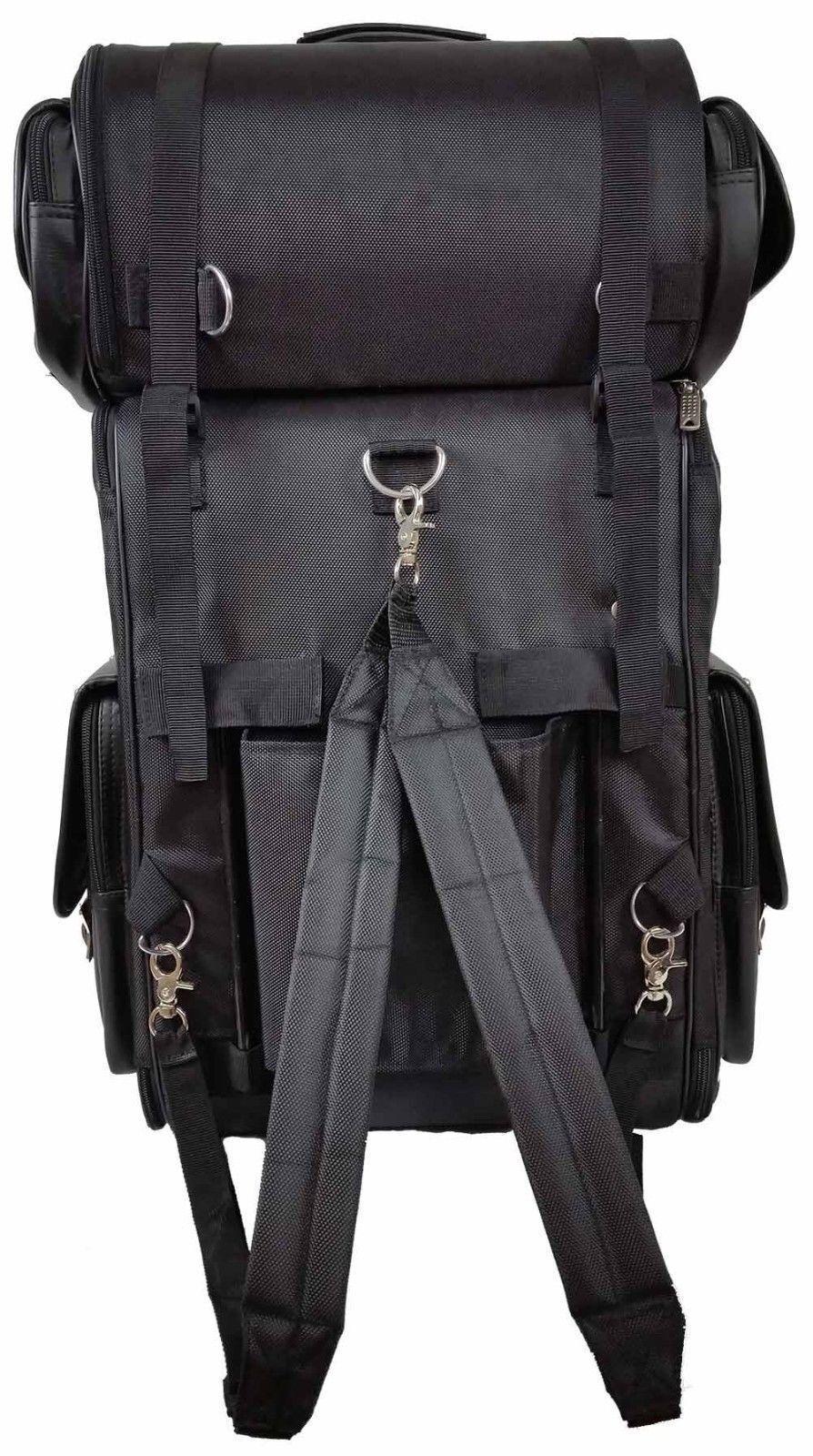 motorcycle large studded sissy bar travel bar bag back pack travel