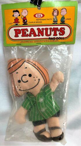 """Peanuts Peppermint Patty Rag Doll 7.5"""" Ideal MIB 1970"""