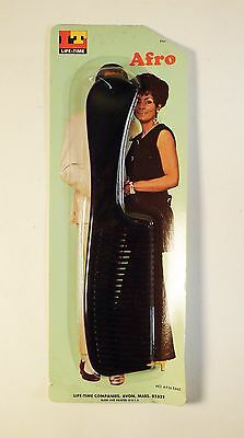Vintage 1970's Plastic Afro Rake Pick Comb with Retro Photo Package