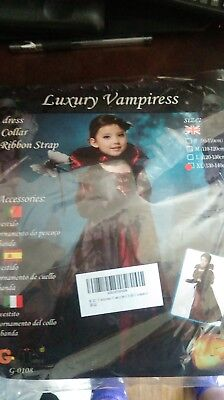 KIDS LUXURY VAMPIRESS  HALLOWEEN COSTUME XL](Luxury Halloween Costume)