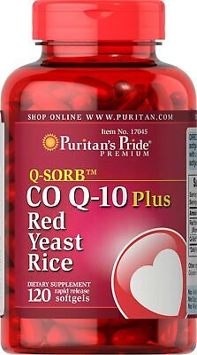 Q-sorb Co Q-10 Plus Red Yeast Rice, 120 Count Co Q10 Plus Red Yeast Rice