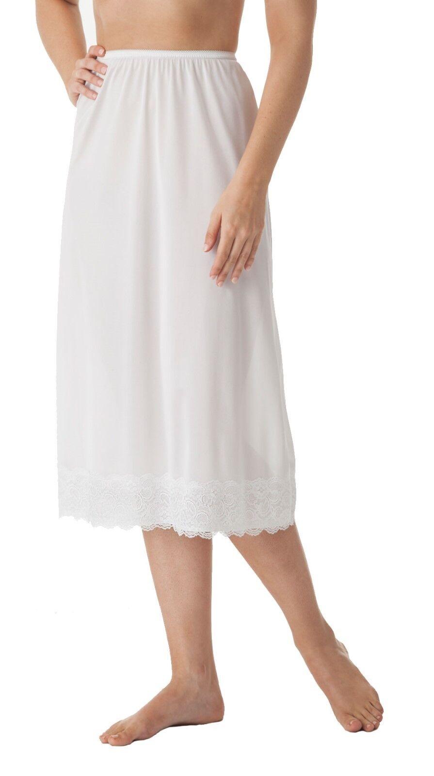 velrose lingerie 31 inch plus size half slips style 2360 1x 5x wide lace hem