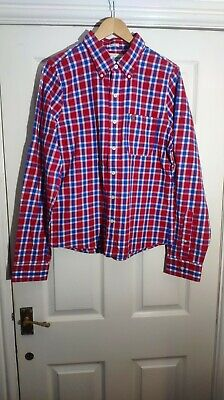 Abercrombie & Fitch Muscle Fit Red Blue White Check Shirt Size XL *VGC*