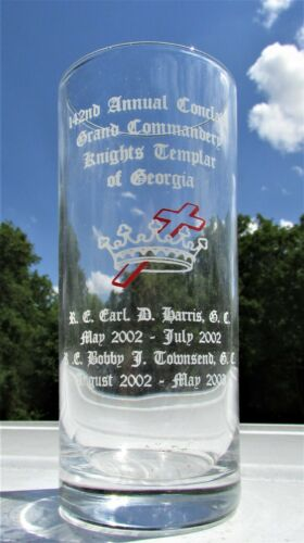 142nd Knights Templar of Georgia Annual Conclave Grand Commandery Tall Glass
