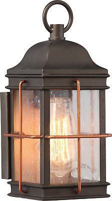 Nuvo Howell 1 Light Small Outdoor Wall Fixture with 60w Vintage Lamp Included 60w Small 1 Light