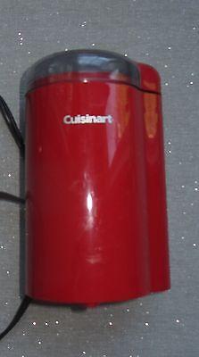RED CUISINART KITCHEN APPLIANCE COFFEE GRINDER SUGAR ELECTRIC SAFFRON TEA SMALL