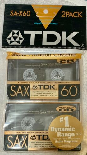 TDK SA-X 60 2PK, High Position TYPE II, Made in Japan, 1989/90 Edn, New Sealed