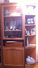 Retro Display Cabinet and side round shelf . North Bondi Eastern Suburbs Preview