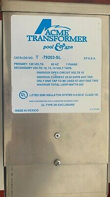 Acme T-79203-sl Dry Type Distribution Transformer 120v 60hz 1 Phase Poolspa