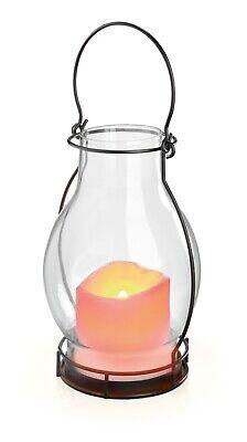 Lamp Solar Decorative Garden Lantern Outdoor Candle Flame Glass