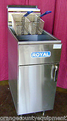 New 50 Lb Fryer Gas Deep Fat Royal Rftm-5 1476 Commercial Restaurant Nsf Fry