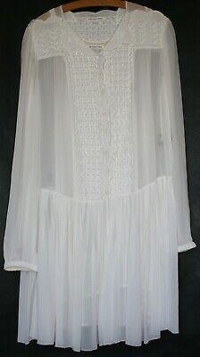 ISABEL MARANT ETOILE WHITE / CREAM DRESS + separate underslip size 40 UK 12 M