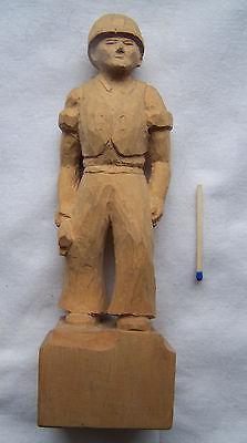 Figur Holzfigur Bergmann geschnitzt Zwickau 1980