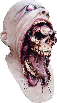 Halloween BLURP CHARLIE HUMAN SKULL Adult Latex Deluxe Mask Bump In The Night