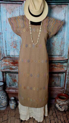 Mexican Huipil Kaftan Resort Handwoven Natural Dye San Juan Colorado Oaxaca