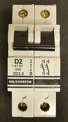 Altech Abl Sursum 2d2.0u D2a 2 Pole 2 Amp Circuit Breaker 2d2 0u