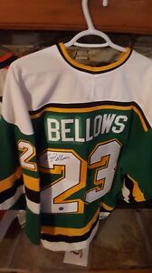 Brian Bellows Signed Minnesota North Stars Jersey with COA