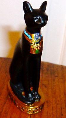 EGYPTIAN goddess black cat Bastet Figurine Figure Statue  Goddess God figurine