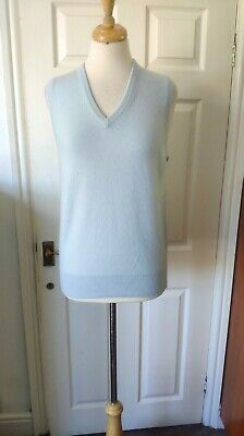 Johnstons Of Elgin 100% Cashmere Vest Jumper Size M/38 *VGC*