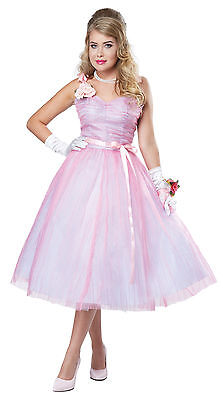 Adult 50s Teen Angel Prom Queen Costume