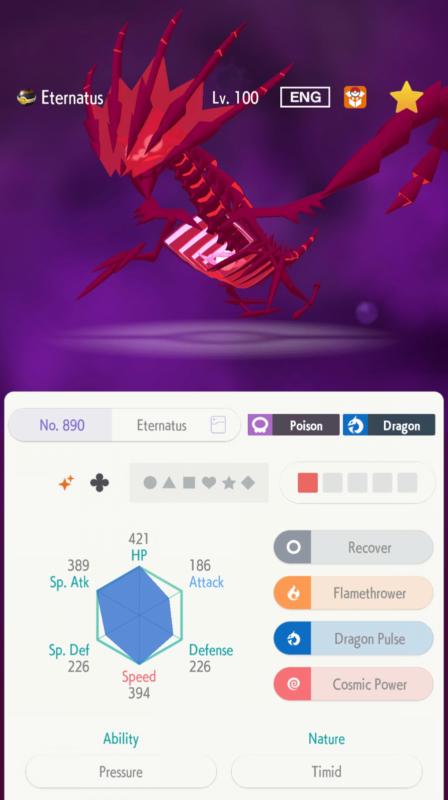 Sword//Shield 6IV Eternatus Pokemon Guide