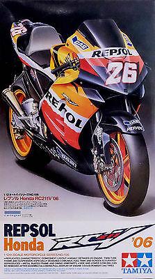 2006 Honda RC211V Repsol Bike Motorrad 1:12 Model Kit Bausatz TAMIYA 14106