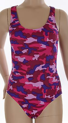 Women's/Ladies Pink Camouflage Camo One Piece Swimsuit Swimwear, Bathers Racer
