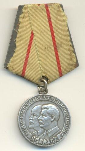 Soviet Russian USSR Partisan Medal 1st Class