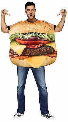 Adult Unisex Cheeseburger Costume Cheese Burger Hamburger Mens Womens NEW - Hamburger Costume Adult